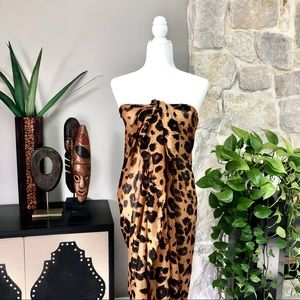 Leopard Print Sarong Pareo Beach Coverup Wrap O/S